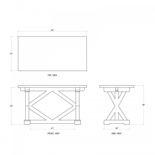 "Riverwalk Counter Table 36""H"