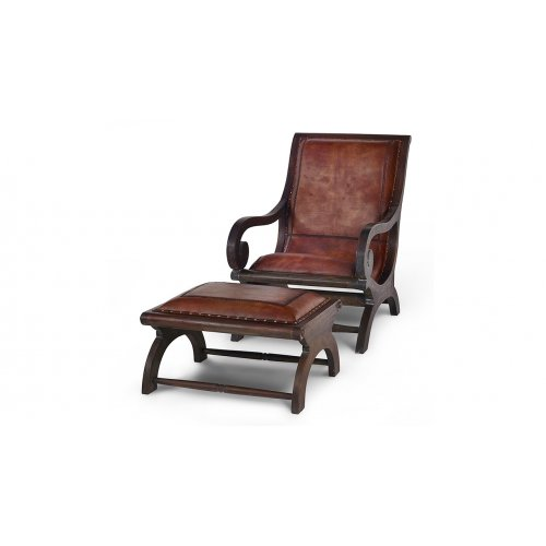Fotel Lazy Chair z podnóżkiem