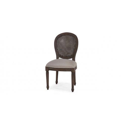 Krzesło Tulip z rattanowym...