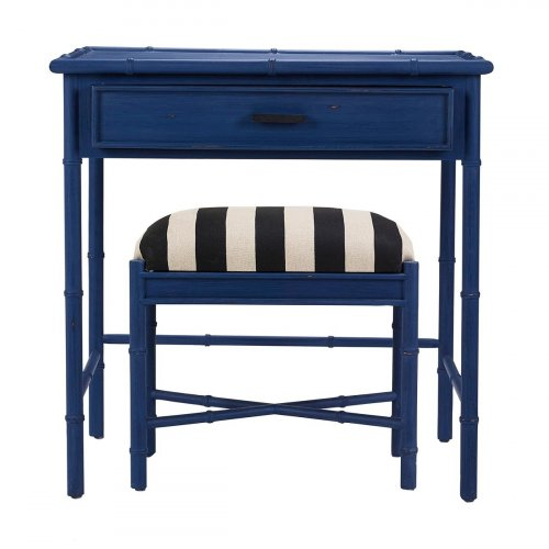 Cane Console w/ Stool