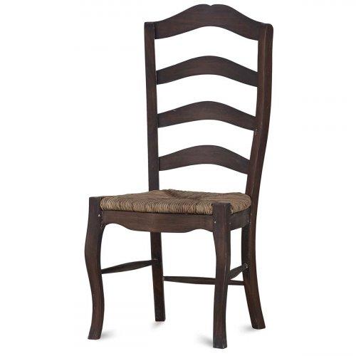 Ladder Back Chair w/ Rush Seat